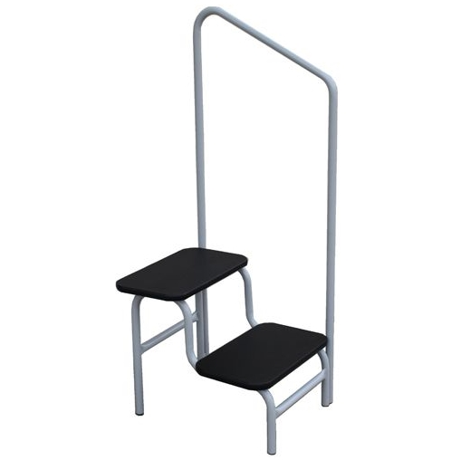 Double Step-Up Stool With Hand Rail