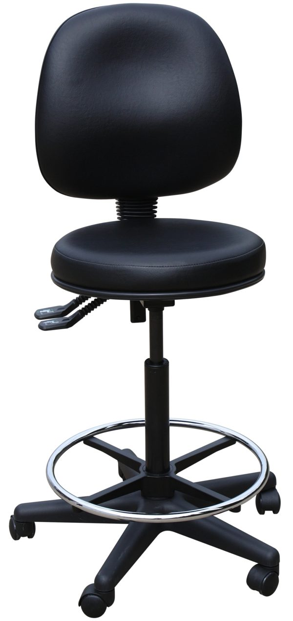 Surgeon Stool with Backrest and Footrest