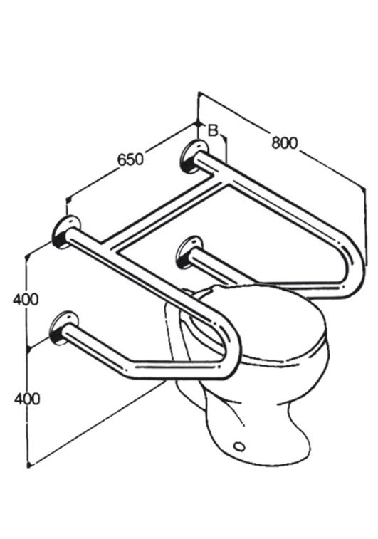 Toilet Rail - Type 14