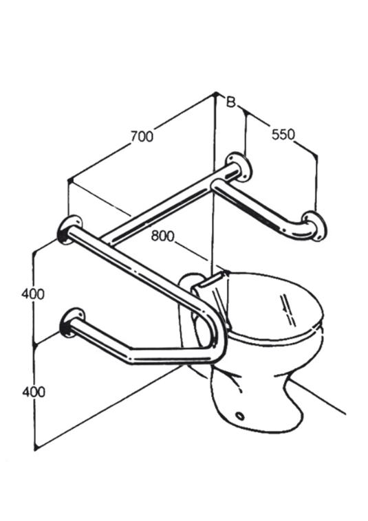 Toilet Rail - Type 15