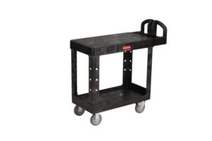 Rubbermaid Small Heavy Duty Utility Cart w/Flat Shelf