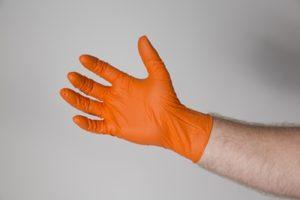 Nitrile Gloves Powder Free - Micro Textured - Orange