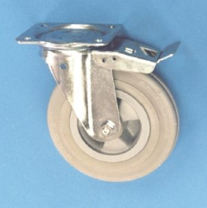 Swivel Plate Castor With Total Locking Brake