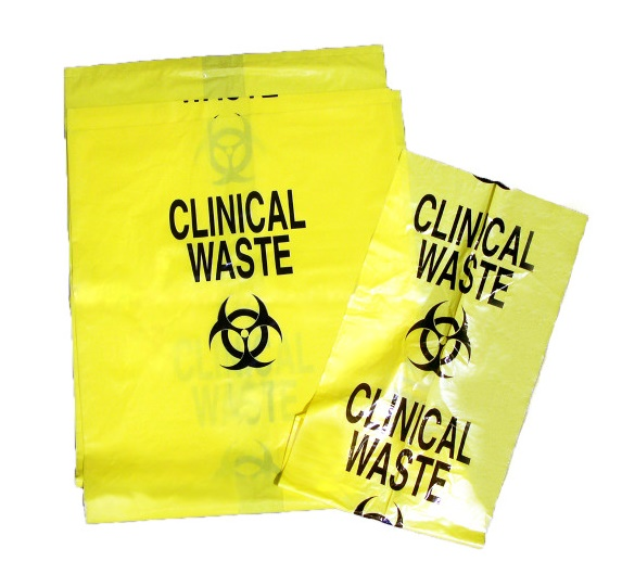Yellow Clinical Waste Bags 82 x 90cm