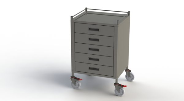 Anaesthetic 5 Drawer Trolley