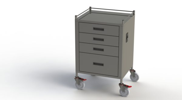 Anaesthetic 4 Drawer Trolley