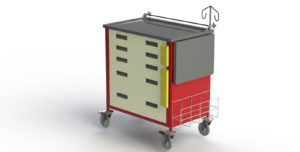 Emergency Care Trolley (Crash Cart)