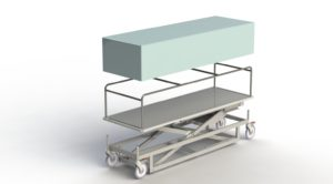 Electric Lift Mortuary Trolley