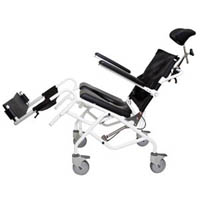 Tilt in Space Gas Assisted Mobile Shower Commode 46cm