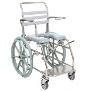 Bariatric Self-Propelled Mobile Shower Commode - Sliding Footrest