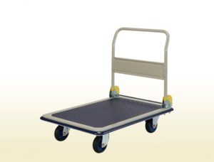 Folding Handle Platform Flat Bed Trolley 300Kg
