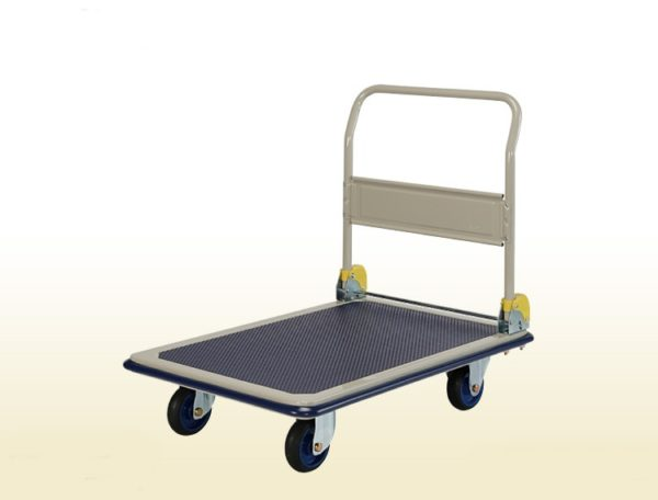 Folding Handle Platform Flat Bed Trolley 300Kg