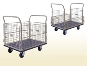 Prestar Platform Flat Bed Trolley with Mesh Sides