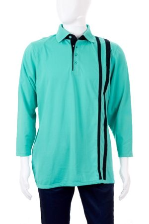 Men's Petal Back Polo Shirt - Long Sleeve