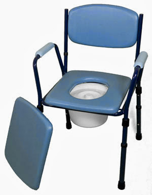 Delux Adjustable Steel Commode Chair