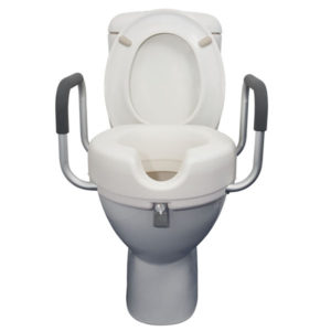 Raised Toilet Seat with Armrests 10cm