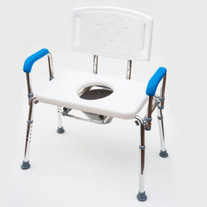 Adjustable Width Bariatric Shower Chair/Stool/Commode