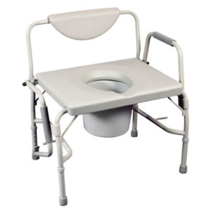 Bariatric Drop Arm Commode/Over Toilet Aid