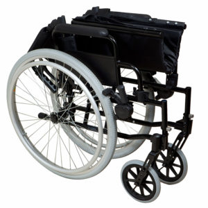 Lightweight Self-Propelled Wheelchair Black Frame