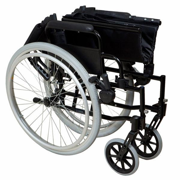 Lightweight Self-Propelled Wheelchair Black Frame