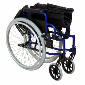 Lightweight Self-Propelled Wheelchair Blue Frame