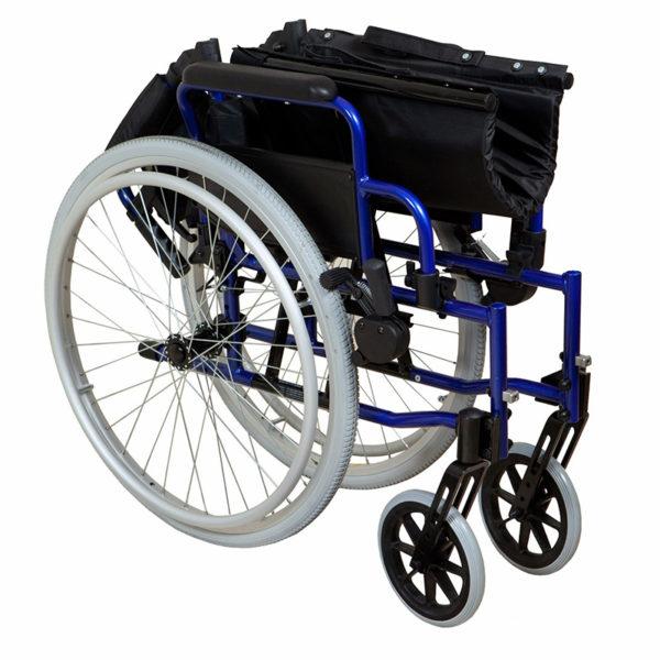 Lightweight Self-Propelled Wheelchair Blue Frame