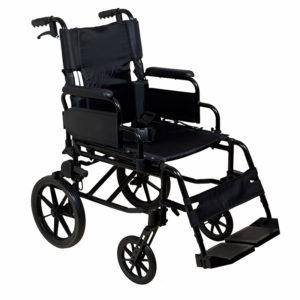 Lightweight Transit Wheelchair Black Frame
