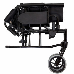 Lightweight Transit Wheelchair Black Frame