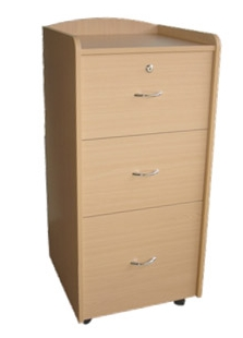 Tall Bedside Locker with Casters