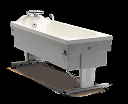 Height adjustable bathtub
