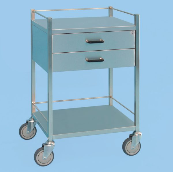 Two Drawer Equipment Trolley