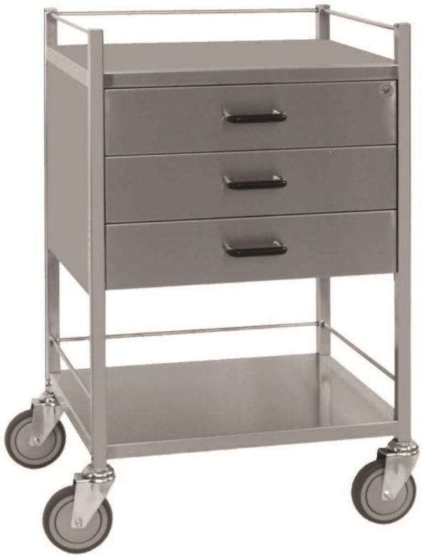 Three Drawer Equipment Trolley