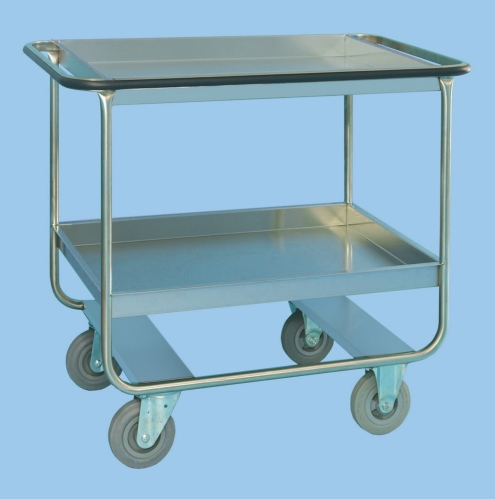 Clearing Trolley With Two Deep Trays