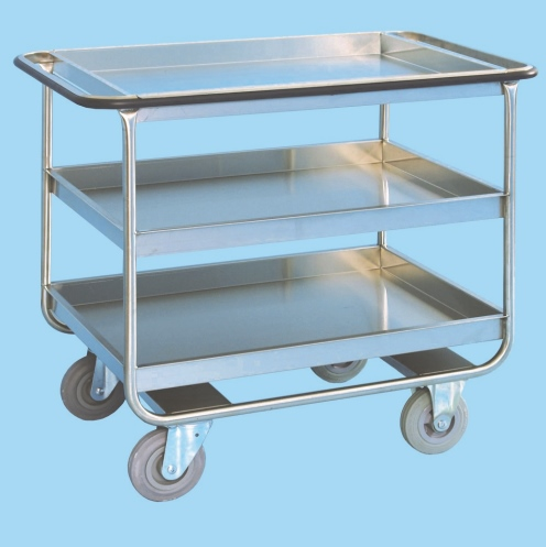 Clearing Trolley With Three Deep Trays