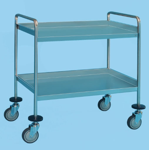 Service Trolley With Two Shelves