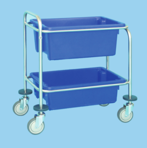 Utility Trolley With Two Polyethylene Bins