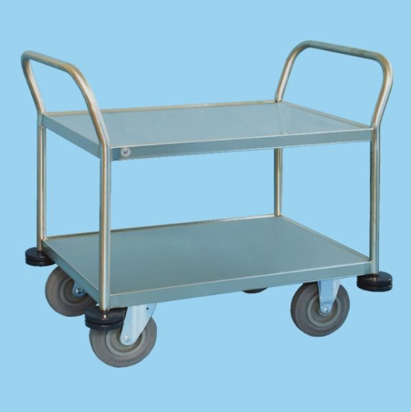 Multipurpose Trolley With Two Recessed Shelves