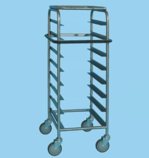 Tray Service Trolley For 8 Trays