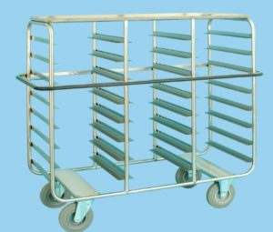 Tray Service Trolley For 24 Trays