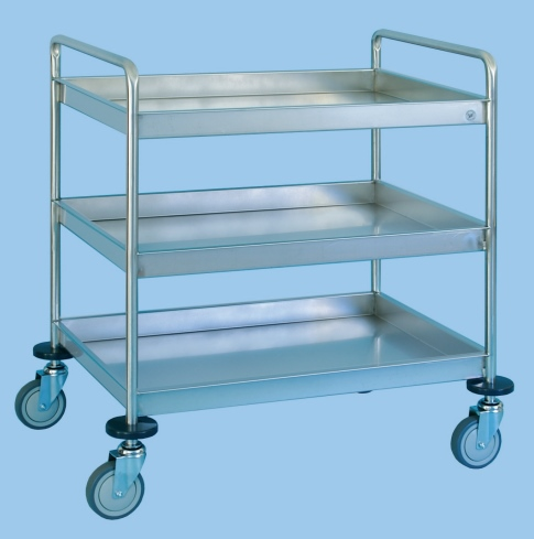 Service/Clearing Trolley With Three Deep Trays