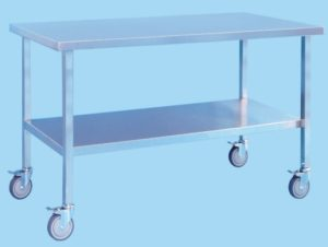 Mobile Table With Shelf