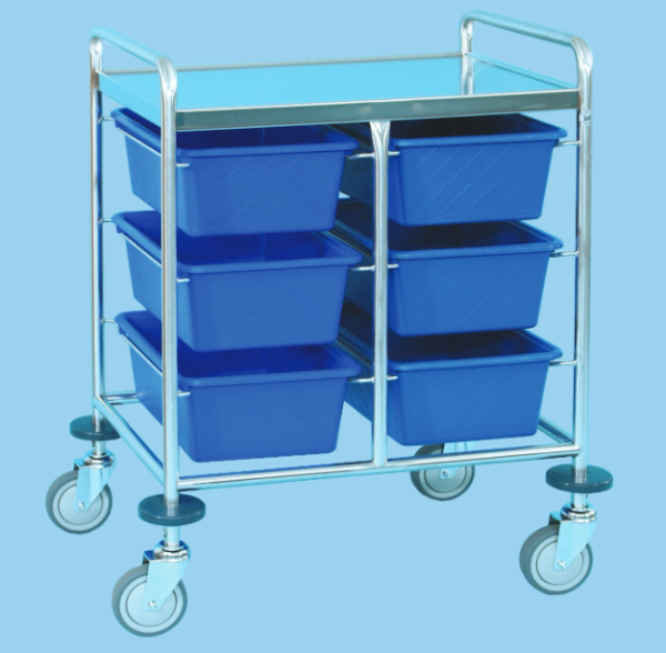 Supply Trolley with Bins