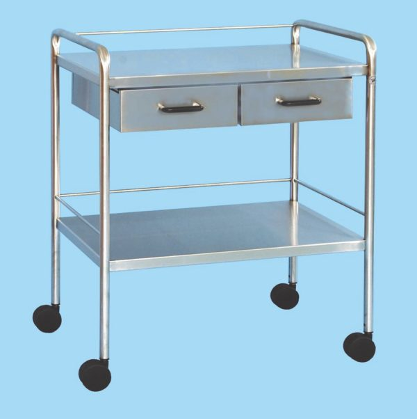 Two Drawer Surgery Dressing Trolley