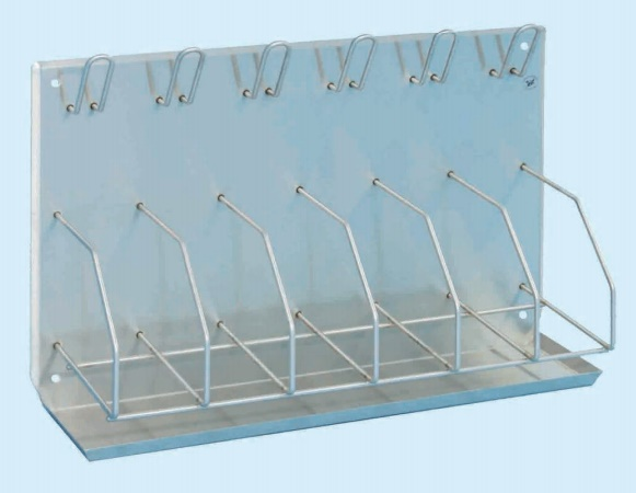 Bedpan/Bottle Rack - holds 6