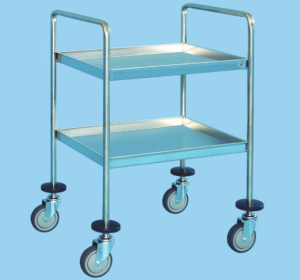 Utility Trolley With Two Shelves
