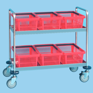 Supply Trolley with Baskets