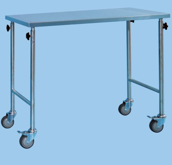 Instrument Table With Height Adjustable Legs