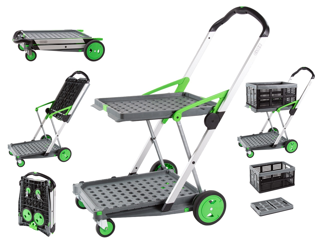 Clax Cart 2 Tier Collapsible Trolley Safety And Mobility
